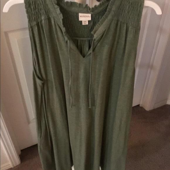 Merona Dresses & Skirts - Green Sleeveless Knit Dress